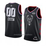 Camiseta All Star 2019 Milwaukee Bucks Personalizada Negro