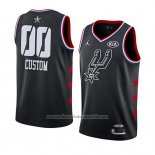 Camiseta All Star 2019 San Antonio Spurs Personalizada Negro