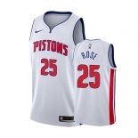 Camiseta Detroit Pistons Derrick Rose #25 Association 2018-19 Blanco