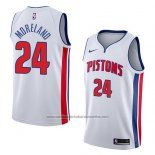 Camiseta Detroit Pistons Eric Moreland #24 Association 2018 Blanco