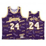 Camiseta Los Angeles Lakers Kobe Bryant NO 24 Hardwood Classics Tear Up Pack Violeta
