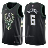 Camiseta Milwaukee Bucks Eric Bledsoe #8 2017-18 Negro