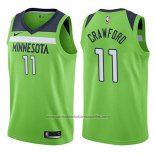 Camiseta Minnesota Timberwolves Jamal Murray #11 Crawford Statement 2017-18 Verde