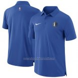 Camiseta Polo Dallas Mavericks Azul