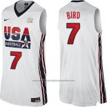 Camiseta USA 1992 Larry Bird #7 Blanco