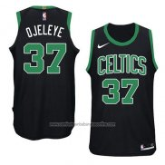 Camiseta Boston Celtics Semi Ojeleye #37 Statement 2018 Negro