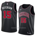Camiseta Chicago Bulls Chandler Hutchison #15 Statement 2018 Negro