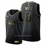 Camiseta Golden Edition Chicago Bulls Coby White NO 0 Negro