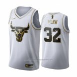 Camiseta Golden Edition Chicago Bulls Kris Dunn NO 32 2019-20 Blanco