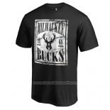 Camiseta Manga Corta Milwaukee Bucks Negro5