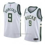 Camiseta Milwaukee Bucks Donte Divincenzo #9 Association 2018 Blanco