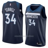 Camiseta Minnesota Timberwolves Jared Terrell #34 Icon 2018 Azul