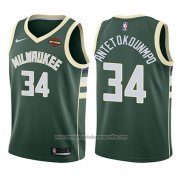 Camiseta Nino Milwaukee Bucks Giannis Antetokounmpo #34 Icon 2017-18 Verde