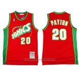 Camiseta Seattle SuperSonics Gary Payton #20 Historic Retro Rojo2