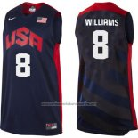 Camiseta USA 2012 Deron Williams #8 Negro