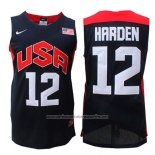 Camiseta USA 2012 James Harden #12 Negro