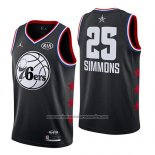 Camiseta All Star 2019 Philadelphia 76ers Ben Simmons #25 Negro