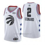 Camiseta All Star 2019 Toronto Raptors Kawhi Leonard #2 Blanco
