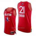 Camiseta All Star 2020 Eastern Conference Joel Embiid NO 21 Rojo