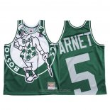 Camiseta Boston Celtics Kevin Garnett NO 5 Mitchell & Ness Big Face Verde