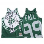 Camiseta Boston Celtics Tacko Fall NO 99 Mitchell & Ness Big Face Verde