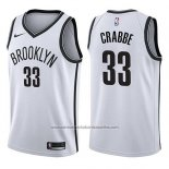 Camiseta Brooklyn Nets Allen Crabbe #33 Association 2017-18 Blanco
