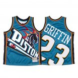 Camiseta Detroit Pistons Blake Griffin NO 23 Mitchell & Ness Big Face Azul