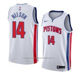 Camiseta Detroit Pistons Jameer Nelson #14 Association 2018 Blanco