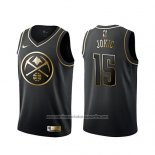 Camiseta Golden Edition Denver Nuggets Nikola Jokic NO 15 Negro