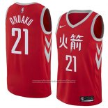 Camiseta Houston Rockets Chinanu Onuaku #21 Ciudad 2018 Rojo