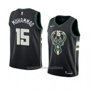 Camiseta Milwaukee Bucks Shabazz Muhammad #15 Statement 2018 Negro