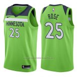 Camiseta Minnesota Timberwolves Derrick Rose #25 Statement 2017-18 Verde