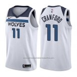 Camiseta Minnesota Timberwolves Jamal Murray #11 Crawford Association 2017-18 Blanco