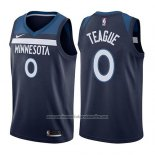 Camiseta Minnesota Timberwolves Jeff Teague #0 Icon 2017-18 Azul