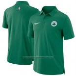 Camiseta Polo Boston Celtics Verde