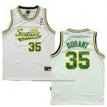 Camiseta Seattle SuperSonics Kevin Durant #35 Historic Blanco2