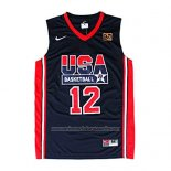 Camiseta USA 1992 John Stockton #12 Negro