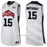 Camiseta USA 2012 Carmelo Anthony #15 Blanco
