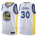 Nike Camiseta Golden State Warriors Stephen Curry #30 2017-18 Blanco