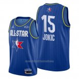 Camiseta All Star 2020 Denver Nuggets Nikola Jokic NO 15 Azul