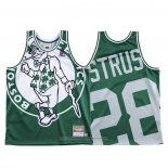 Camiseta Boston Celtics Max Strus NO 28 Mitchell & Ness Big Face Verde