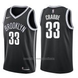 Camiseta Brooklyn Nets Allen Crabbe #33 Icon 2017-18 Negro