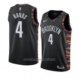 Camiseta Brooklyn Nets Jaylen Hands #4 Ciudad 2019 Negro