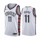 Camiseta Brooklyn Nets Kyrie Irving #11 Ciudad 2019-20 Blanco