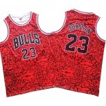 Camiseta Chicago Bulls Michael Jordan NO 23 Mitchell & Ness Rojo2