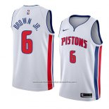Camiseta Detroit Pistons Bruce Brown Jr. #6 Association 2018 Blanco