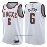 Camiseta Milwaukee Bucks Eric Bledsoe #6 Classic 2017-18 Blanco
