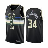 Camiseta Milwaukee Bucks Giannis Antetokounmpo #34 Statement 2019-20 Negro
