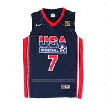 Camiseta USA 1992 Larry Bird #7 Negro