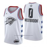 Camiseta All Star 2019 Oklahoma City Thunder Russell Westbrook #0 Blanco